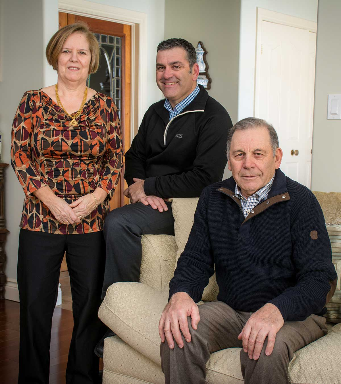 Maria, Tony Jr. and Tony Sr.